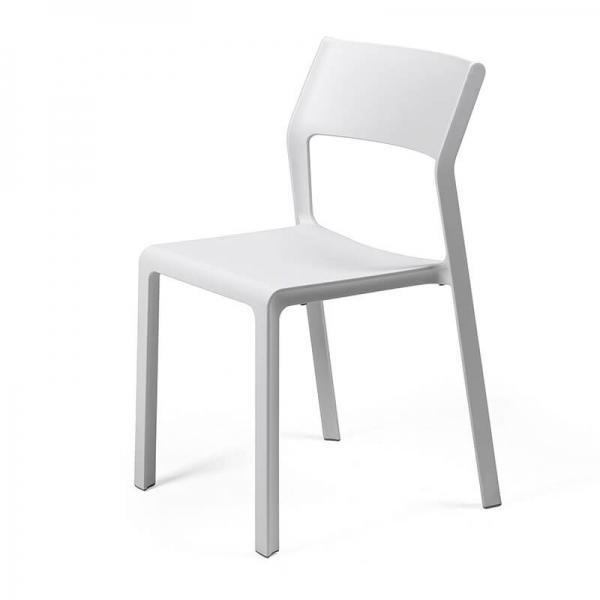 Chaise moderne en plastique blanc empilable - Trill bistrot - 10