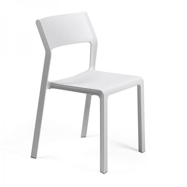 Chaise moderne en polypropylène blanc empilable - Trill bistrot - 9
