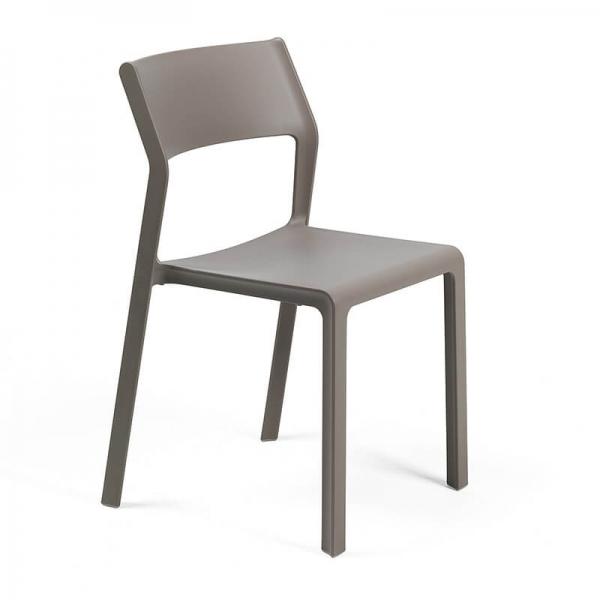 Chaise moderne en polypropylène taupe empilable - Trill bistrot - 17