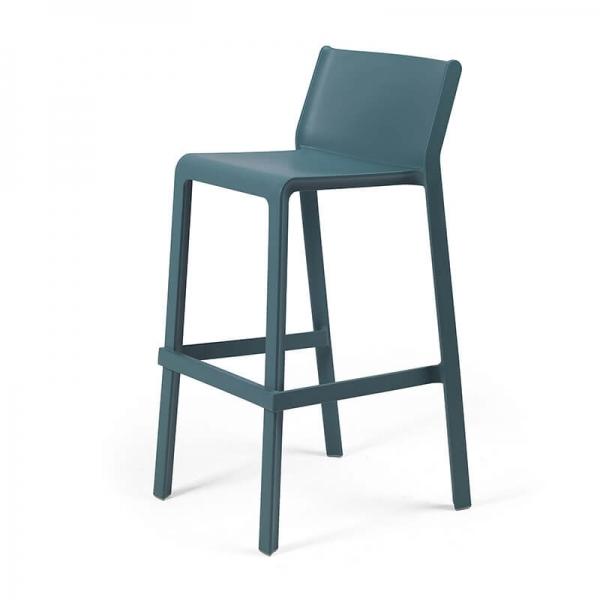 Tabouret de bar de jardin bleu vert - Trill stool - 12