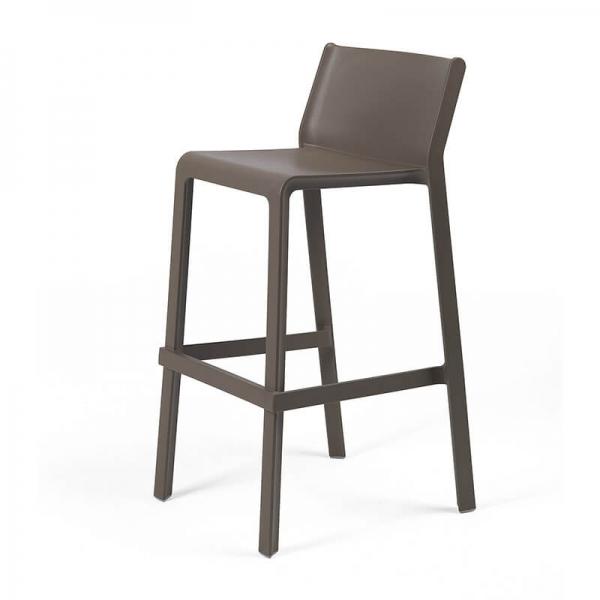 Tabouret de bar de jardin empilable en polypropylène marron tabac- Trill stool - 15