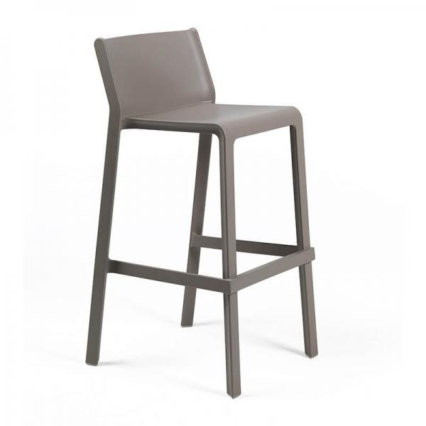 Tabouret de bar de jardin empilable en polypropylène taupe - Trill stool - 16