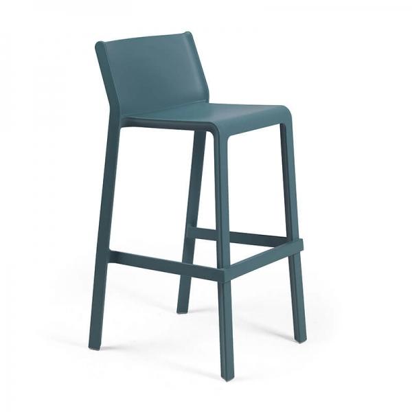 Tabouret de bar de jardin bleu vert octane - Trill stool - 11