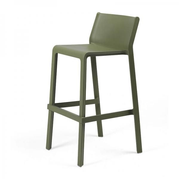 Tabouret de bar moderne empilable vert agave - Trill stool - 5