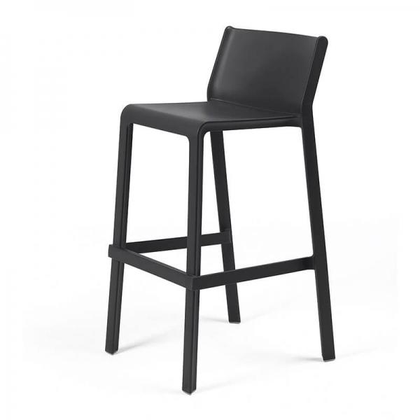 Tabouret de bar moderne empilable anthracite - Trill stool - 11