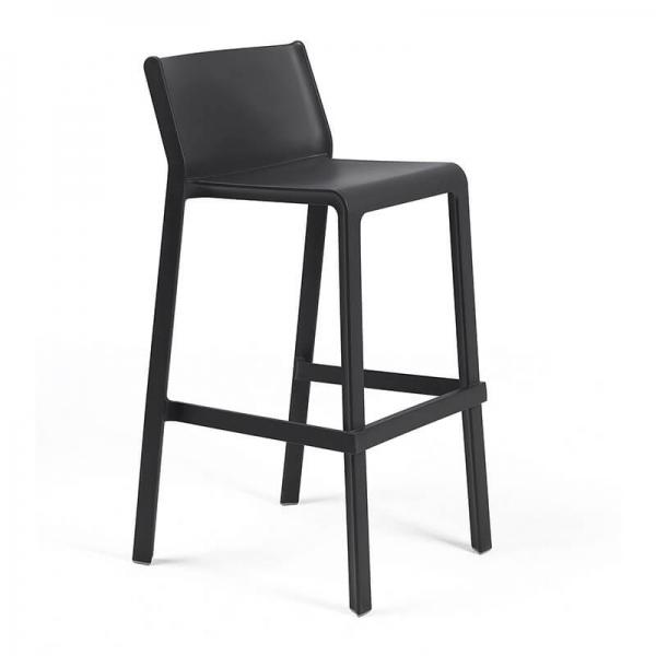 Tabouret de bar moderne empilable en polypropylène anthracite - Trill stool - 10