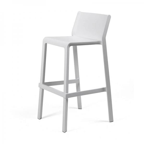 Tabouret de bar moderne empilable blanc - Trill stool - 13