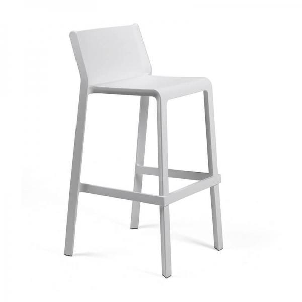 Tabouret de bar moderne empilable en polypropylène blanc - Trill stool - 12