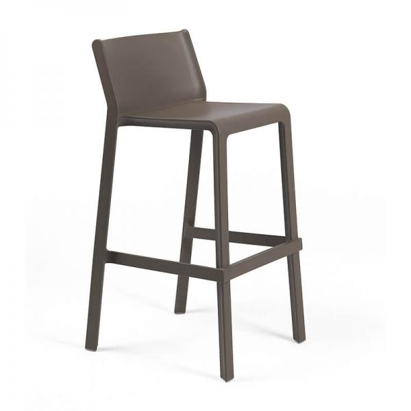Tabouret de bar moderne empilable en polypropylène marron tabac - Trill stool - 14