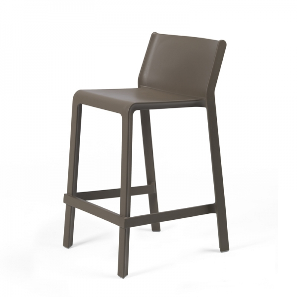 Tabouret snack empilable marron tabac - Trill mini - 7