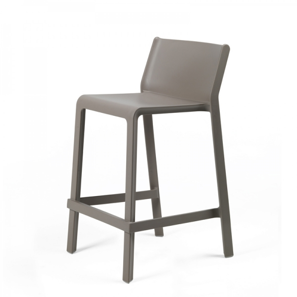 Tabouret snack empilable taupe - Trill mini - 9