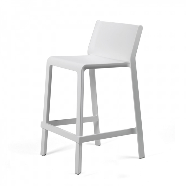 Tabouret snack empilable blanc - Trill mini - 13
