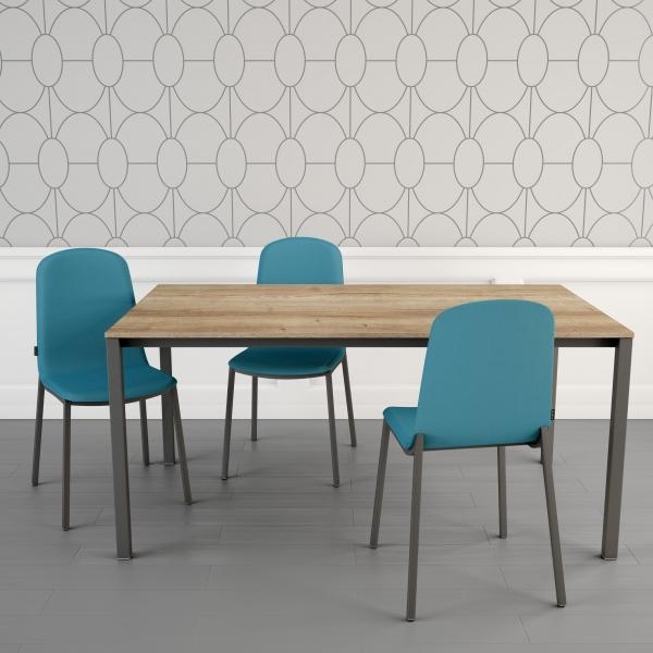 Table moderne petit espace en stratifié - Logic - 1