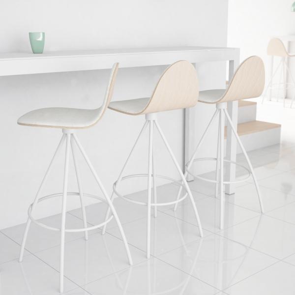 Tabouret haut design - Petris - 1