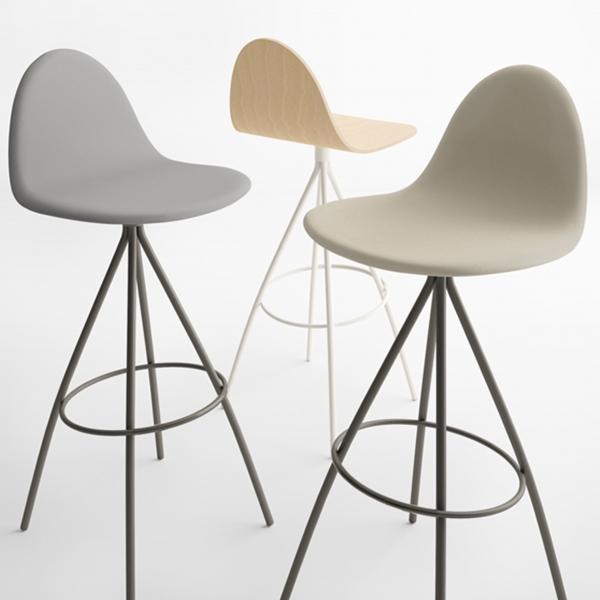 Tabouret haut design - Petris - 4