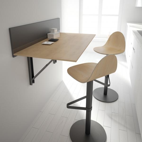Tabouret réglable et pivotant design en bois - Tabu - 2