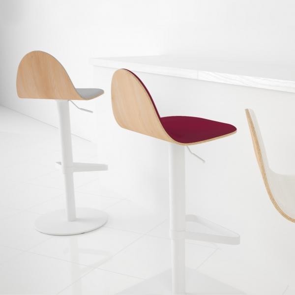 Tabouret réglable et pivotant design en bois - Tabu - 4