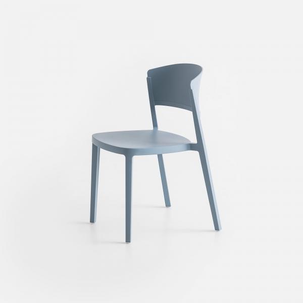 Chaise en plastique bleu ciel empilable - Abuela - 7