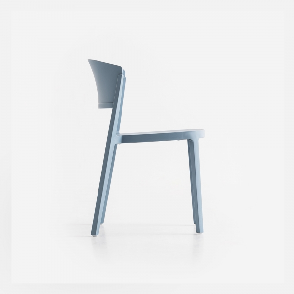 Chaise empilable en plastique bleu ciel - Abuela - 7