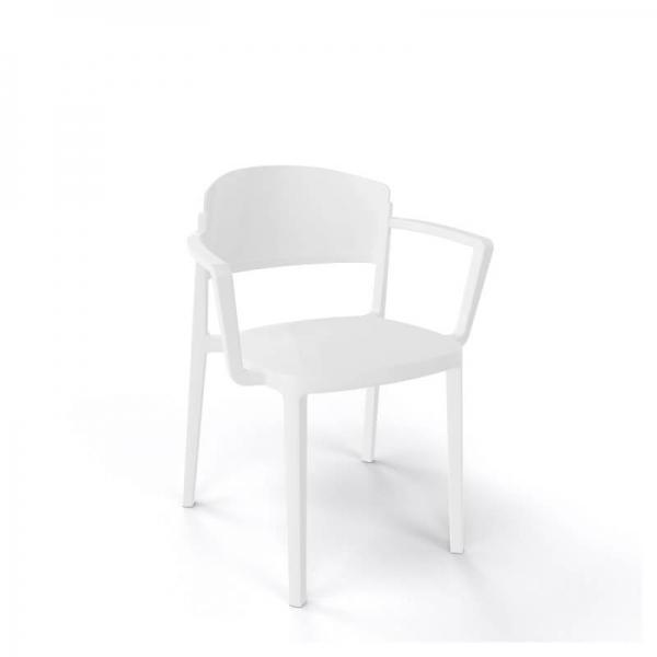 Chaise de jardin avec accoudoirs empilable en technopolymère - Abuela B - 6
