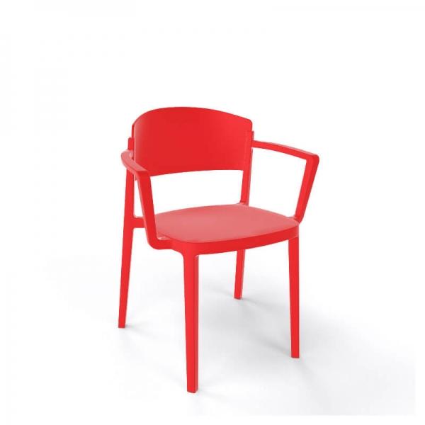 Chaise de jardin avec accoudoirs empilable en technopolymère - Abuela B - 7