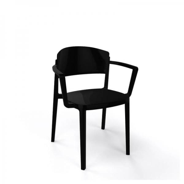 Chaise de jardin avec accoudoirs empilable en technopolymère - Abuela B - 8