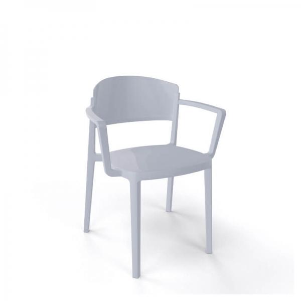 Chaise de jardin avec accoudoirs empilable en technopolymère - Abuela B - 9