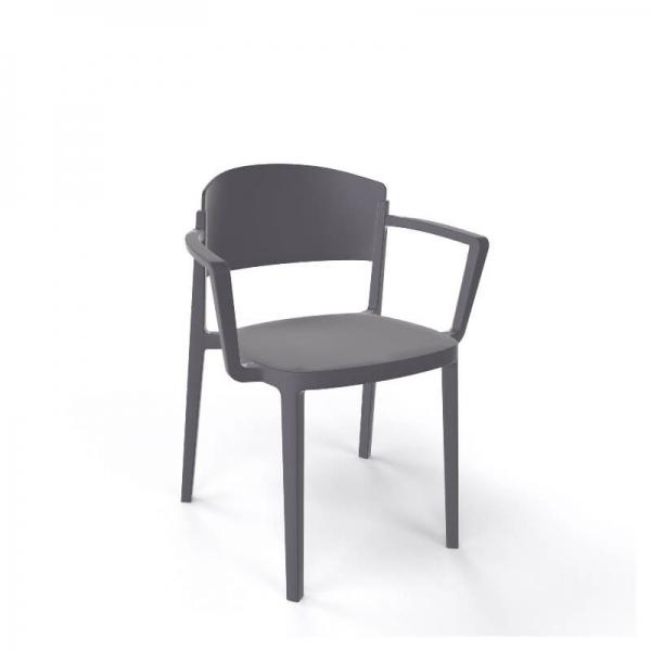 Chaise de jardin avec accoudoirs empilable en technopolymère - Abuela B - 10