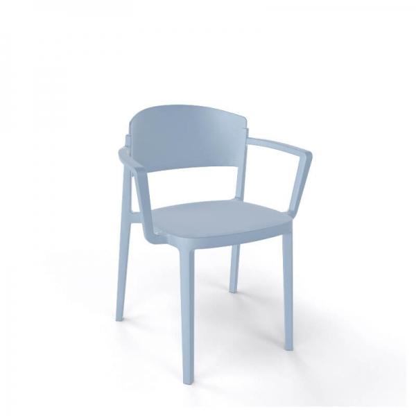 Chaise de jardin avec accoudoirs empilable en technopolymère - Abuela B - 12
