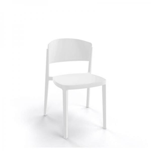Chaise de terrasse moderne empilable en technopolymère - Abuela - 13