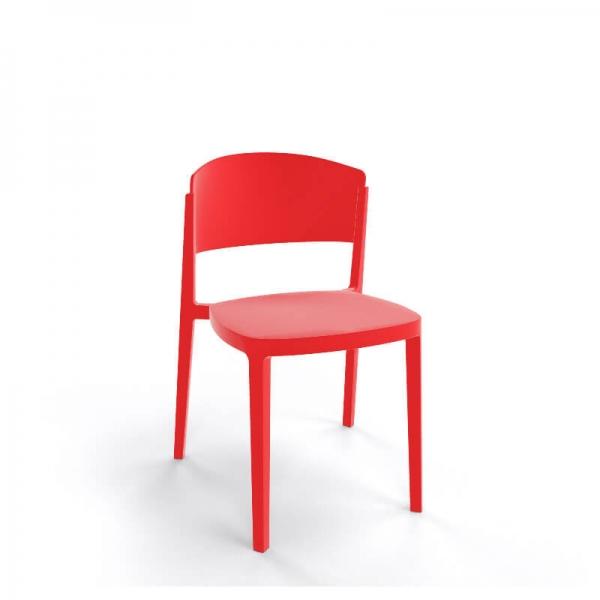 Chaise de terrasse moderne empilable en technopolymère - Abuela - 14