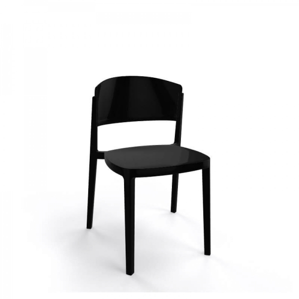 Chaise de terrasse moderne empilable en technopolymère - Abuela - 15