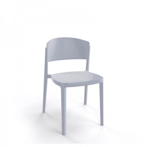 Chaise de terrasse moderne empilable en technopolymère - Abuela - 16