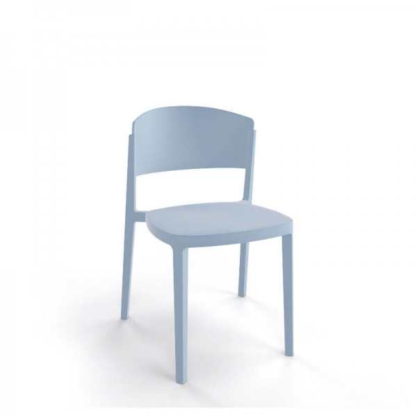 Chaise de terrasse moderne empilable en technopolymère - Abuela - 18