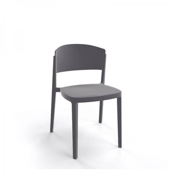 Chaise de terrasse moderne empilable en technopolymère - Abuela - 19