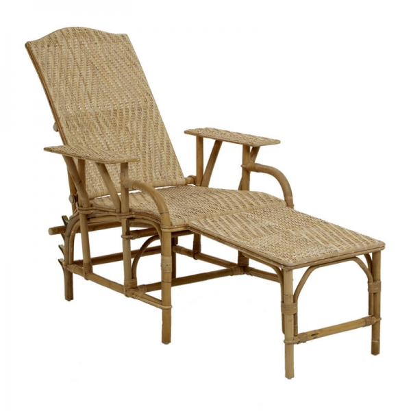 Chaise longue en rotin transformable - Grand mère - 4