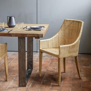 Fauteuil de table en rotin - Deauville