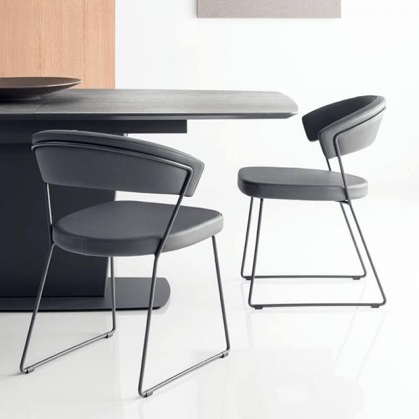 Table de séjour rectangulaire extensible en céramique - Athos Connubia® - 2