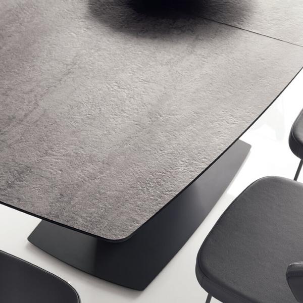 Table de salle à manger avec allonge en céramique noire - Athos Connubia® - 18
