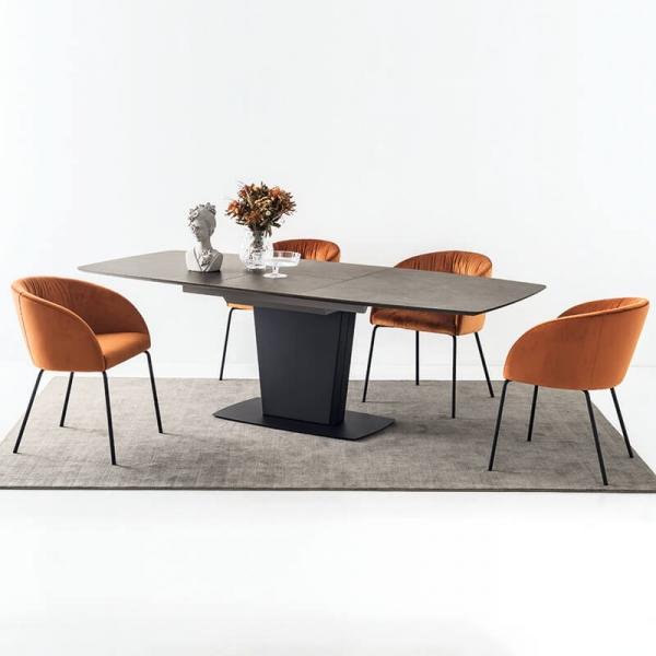 Table de salle à manger rectangulaire avec allonges en céramique - Athos Connubia® - 7