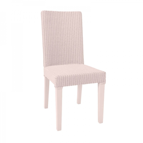 Chaise rose en loom tressé - Bridget - 4