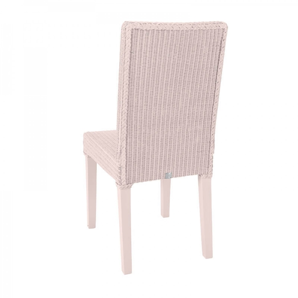 Chaise rose en loom tressé - Bridget - 6
