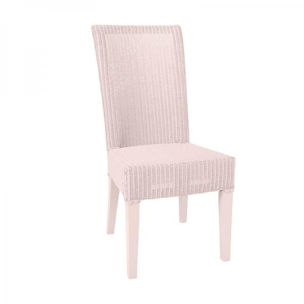 Chaise tressée en loom rose tendre - Joséphine - 4