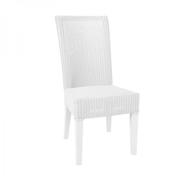 Chaise blanche tressée - Joséphine - 7