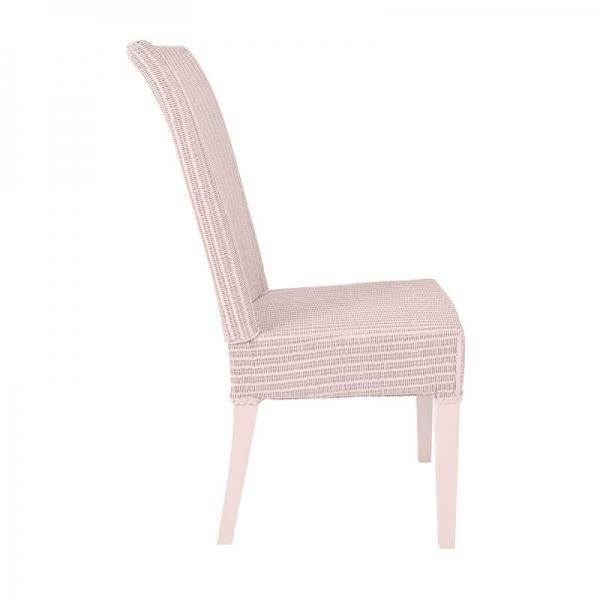 Chaise rose pastel tressée - Joséphine - 5