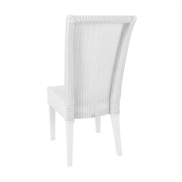 Chaise blanche tressée - Joséphine - 9