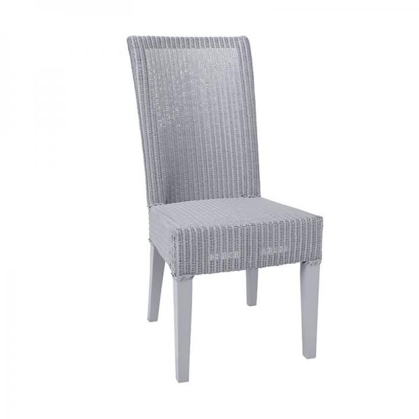 Chaise bleu gris tressée - Joséphine - 10