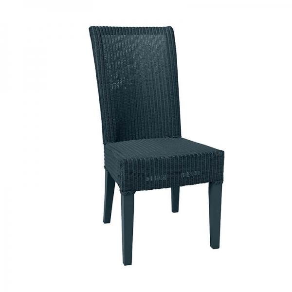 Chaise tressée en loom bleu paon - Joséphine - 13