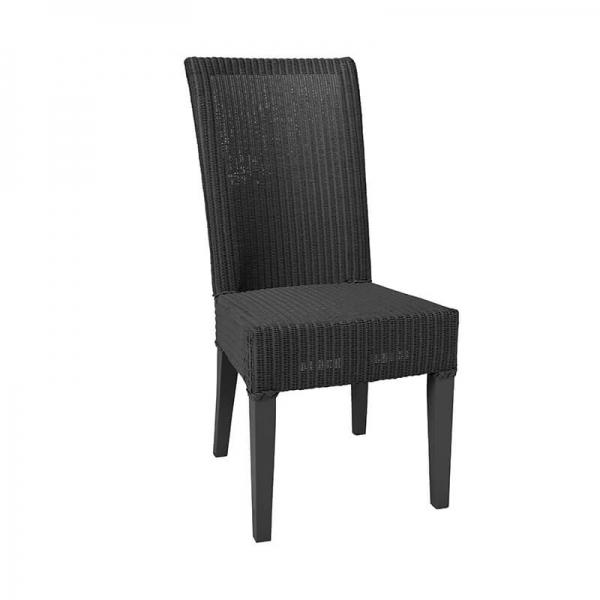 Chaise tressée en loom noir - Joséphine - 16
