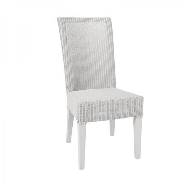 Chaise en loom gris nuage tressée - Joséphine - 31